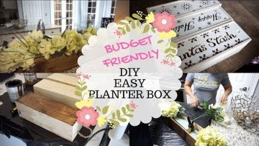 create a decorative faux planter box