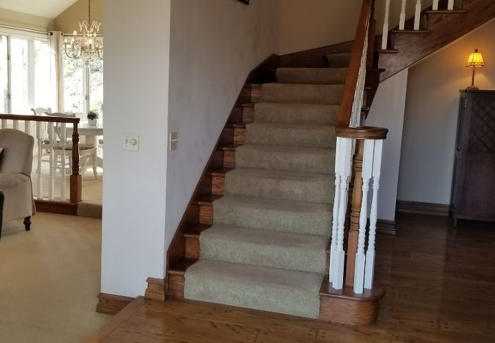 q carpet on stairs when the rest of the house will be porcelain tile