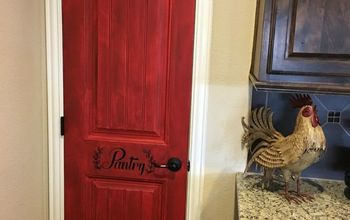 distressed pantry door diy