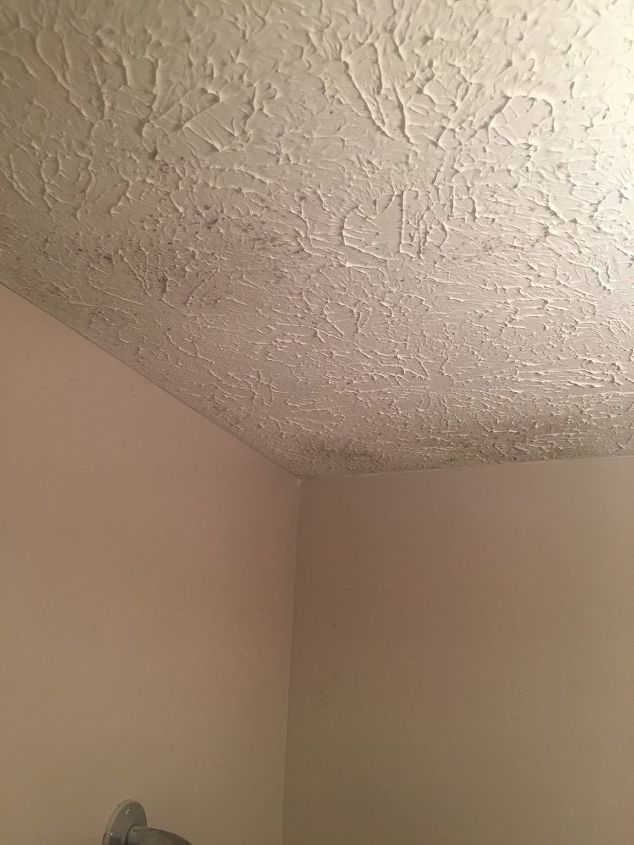 how do you remove mold from bathroom textured ceiling hometalk