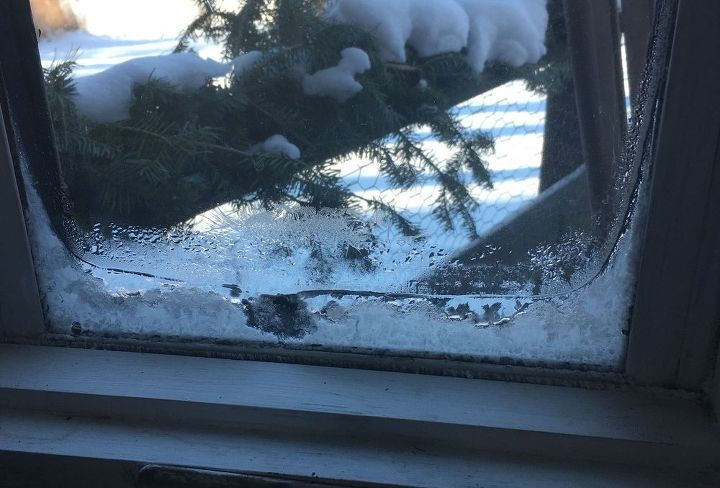 q how do i keep the window from ice on the inside of my window it s 12