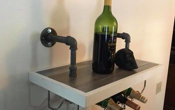 companion wine and wine glass rack shelf