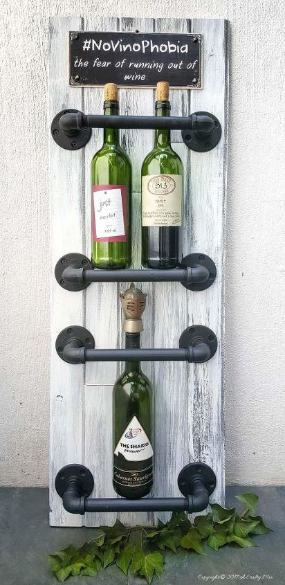s the best industrial style diy ideas for your home using pipes, An Easy Chic Wine Rack