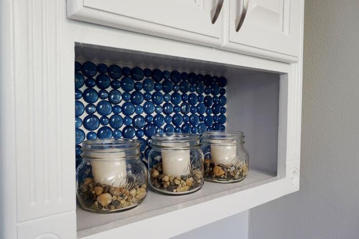 s 18 stunning backsplash ideas you do not want to miss, Glass Bead Backsplash