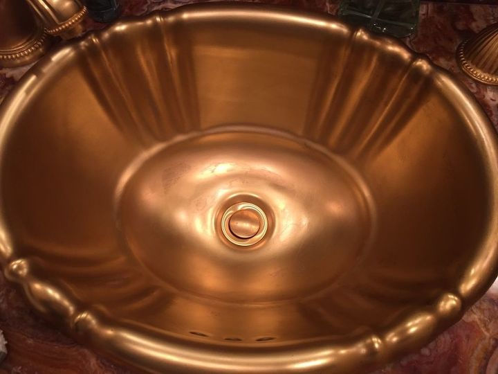 q how do you repair a gold sink that is wearing away