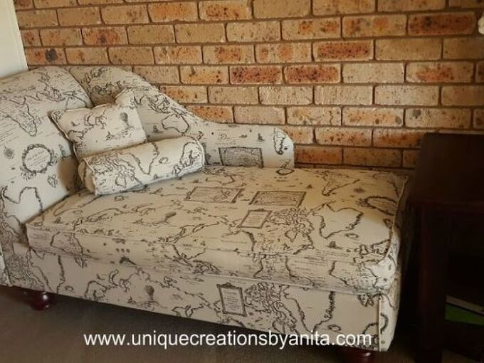 handmade chaise lounge from recycled materials, Chaise lounge