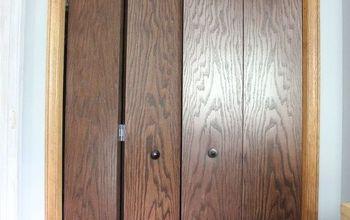 closet bifold door makeover