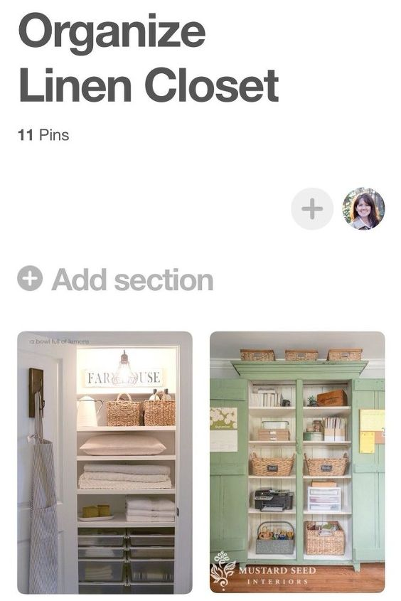 how to use pinterest to organize your home