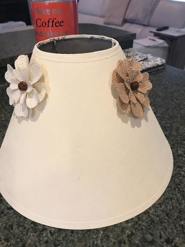 old lamp gets a shabby chic redo