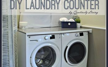 diy laundry counter workspace
