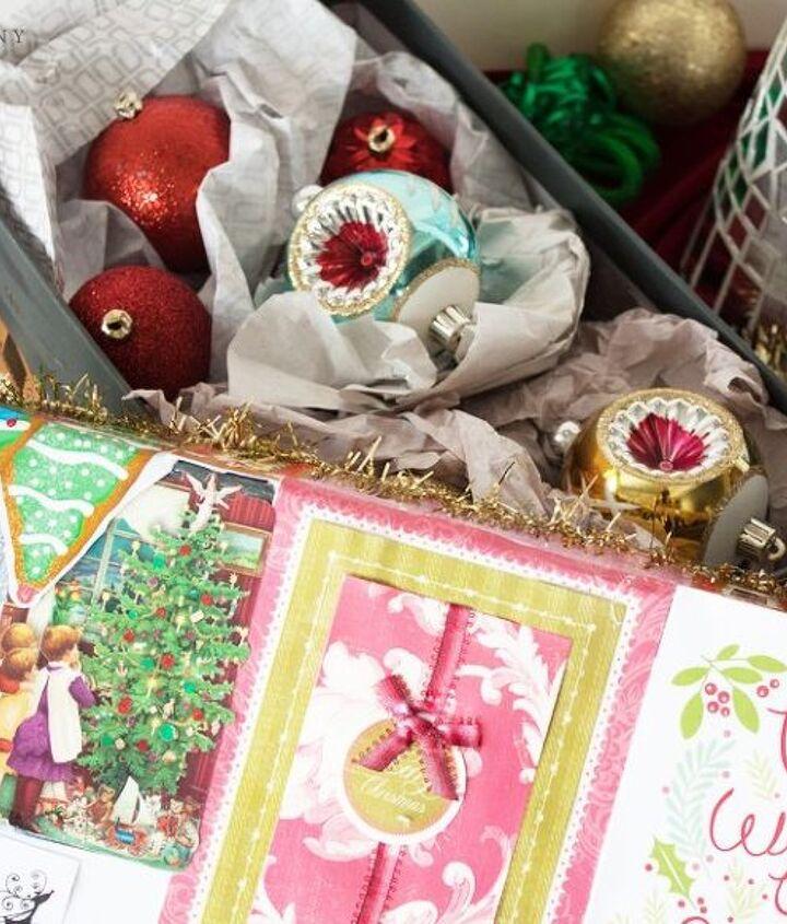 diy christmas card shoebox christmas storage
