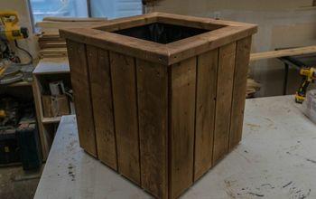 pressure treated planter box