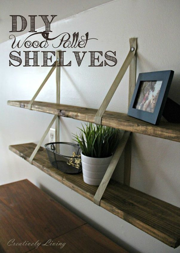 s cut up some pallets for these 20 amazing ideas, DIY Wood Pallet Shelves