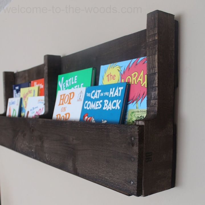s cut up some pallets for these 20 amazing ideas, Turn a Pallet into a Bookshelf
