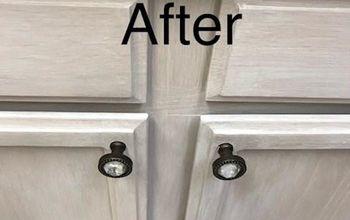 Whitewashing Kitchen Cabinets