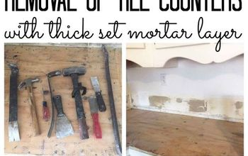 Tile Removal: Removing Thick Set Tile Counters