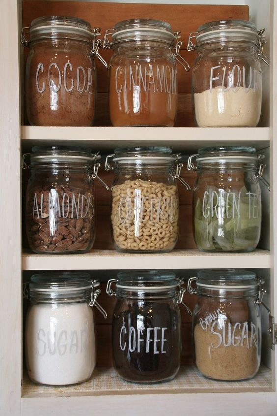 s 25 impressive ways you can update your ikea purchases, Label jars with chalk markers
