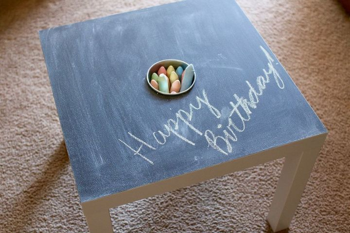 s 25 impressive ways you can update your ikea purchases, Transform a table into a chalkboard