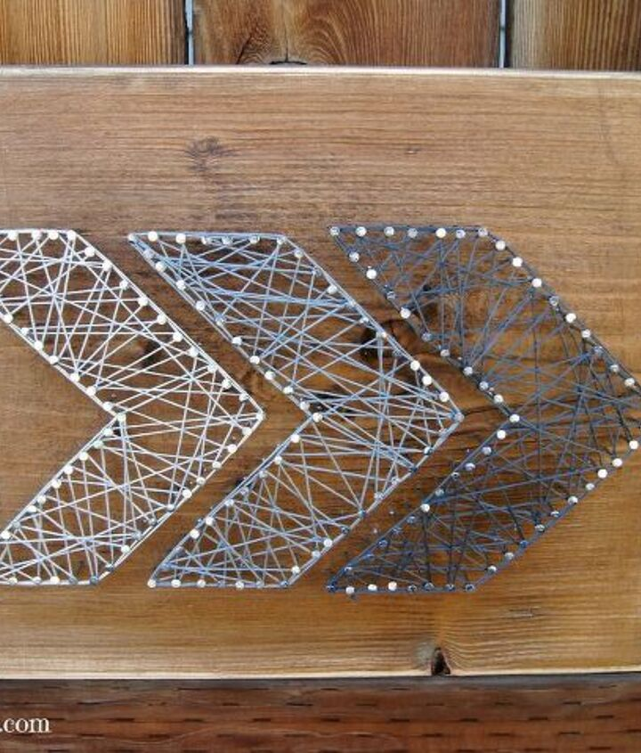 s string art ideas that you ll want to hang in your home, Rustic arrows