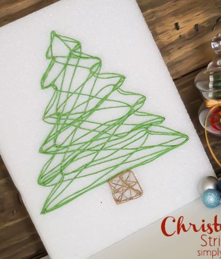 s string art ideas that you ll want to hang in your home, Cute Christmas tree