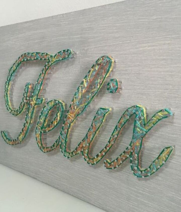 s string art ideas that you ll want to hang in your home, Elegant name sign