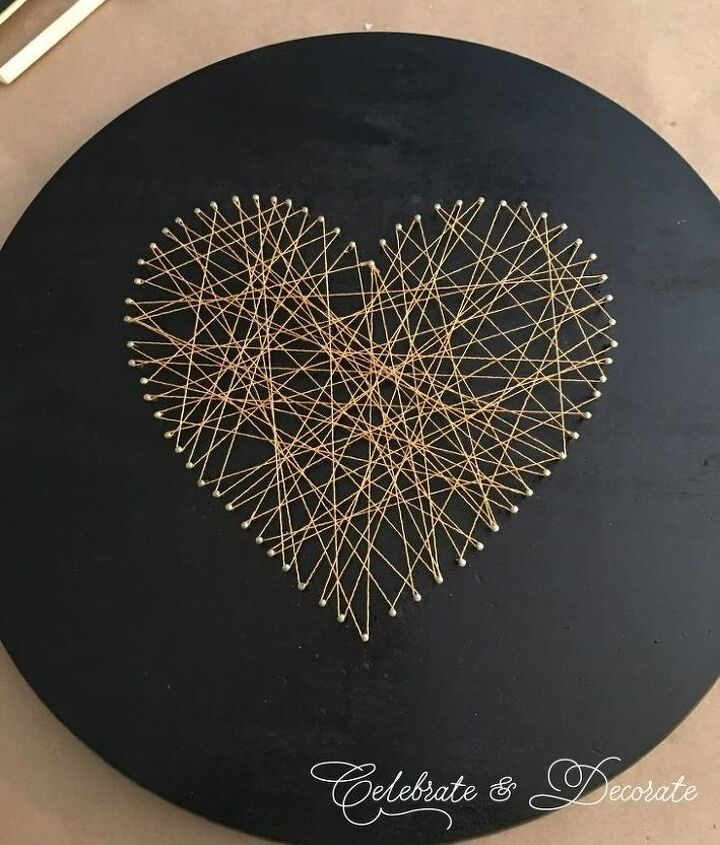s string art ideas that you ll want to hang in your home, Simple heart