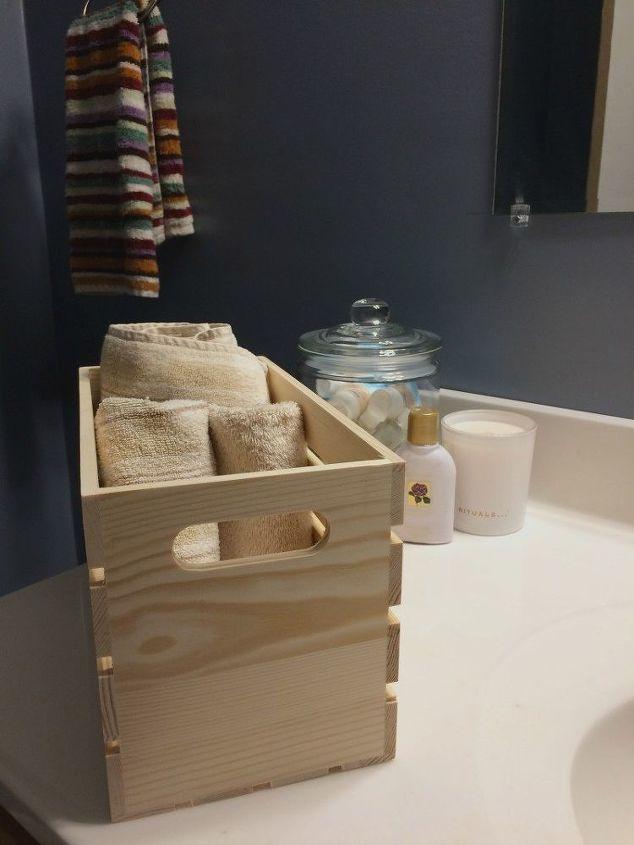 creative bathroom organization