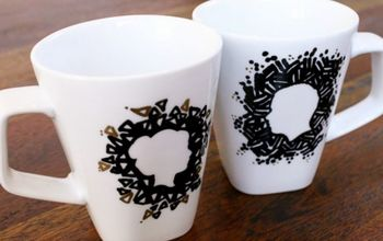 DIY Sharpie Silhouette Mugs for Valentines Day