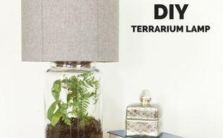 how to make an easy diy terrarium lamp using a mason jar