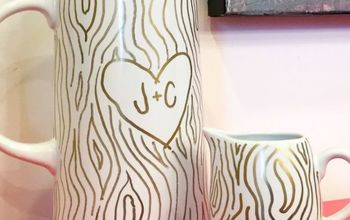 faux bois sharpie valentines pitcher