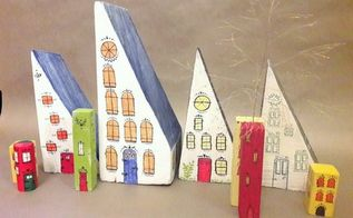 from trash to treasure block houses made from wood scraps