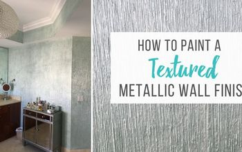 how to create a textured metallic wall finish