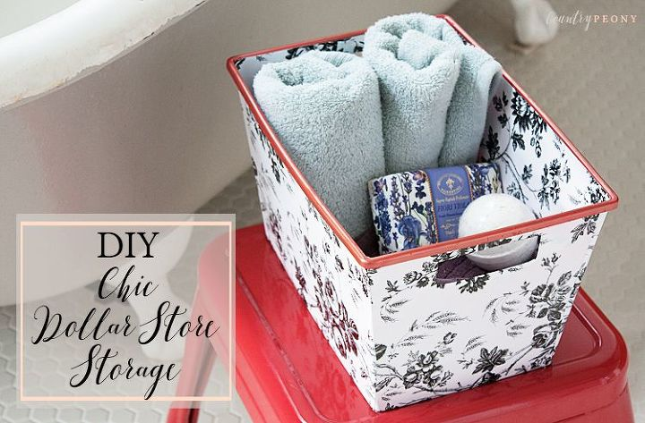 diy chic dollar store storage