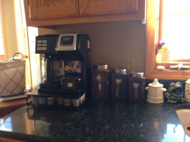 q how can i cutely and functionally organize my coffee tea cocoa area