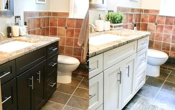 How I Painted My Bathroom Cabinets (with Video Tutorial)
