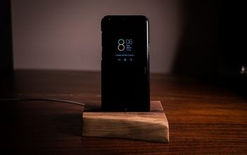 Walnut Slab Charging Cradle