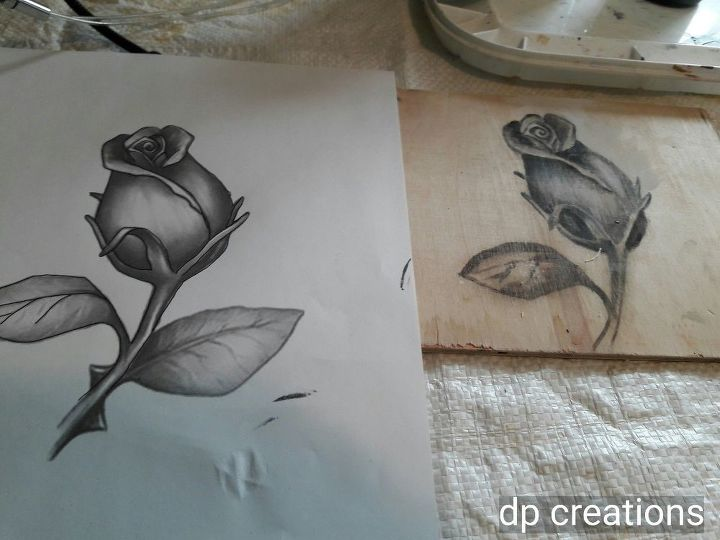 tutorial on flower staining on wood