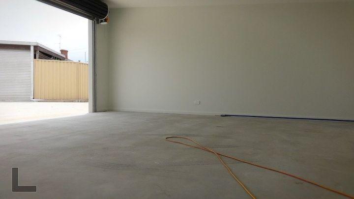 how to paint concrete paving, Bare Concrete