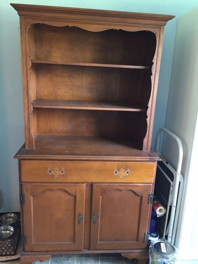 q how do i make a maple hutch blend in with the white pantry it is next