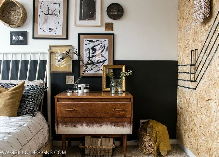 modern vintage bedroom makeover