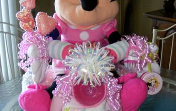 minnie mouse diaper bike