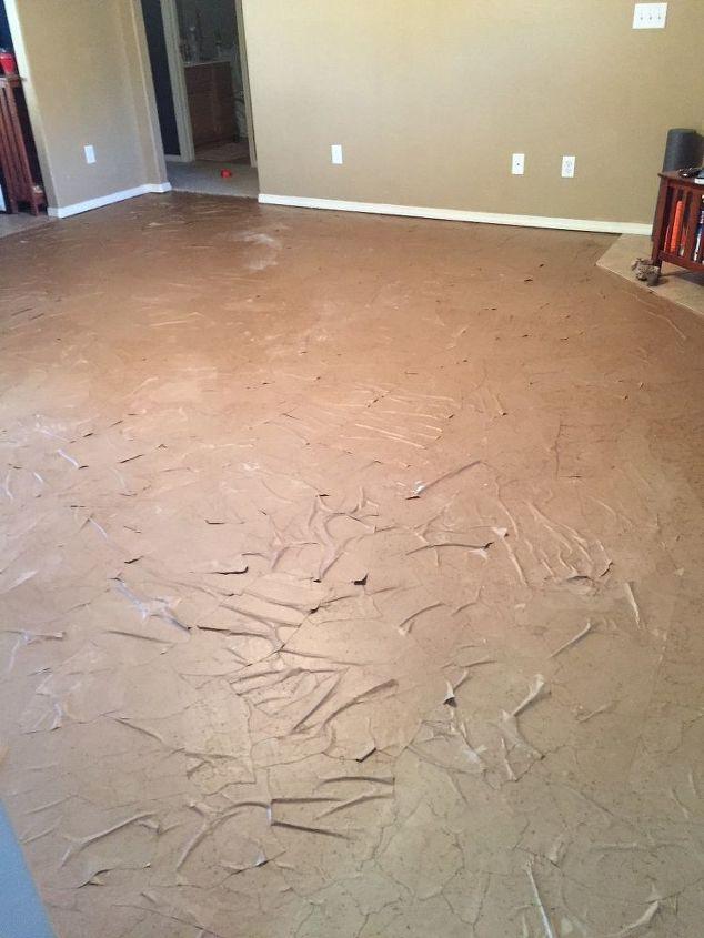 My Brown Paper Bag Flooring Didn T Dry Flat Why Hometalk