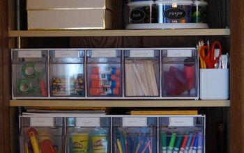 organize creating a kids craft cabinet