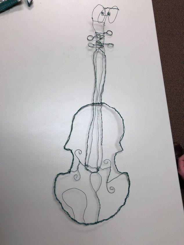 Wire Violin Art | Hometalk