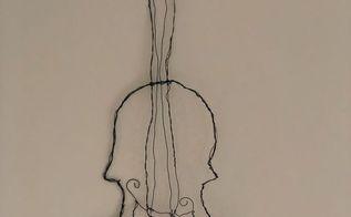 wire violin art