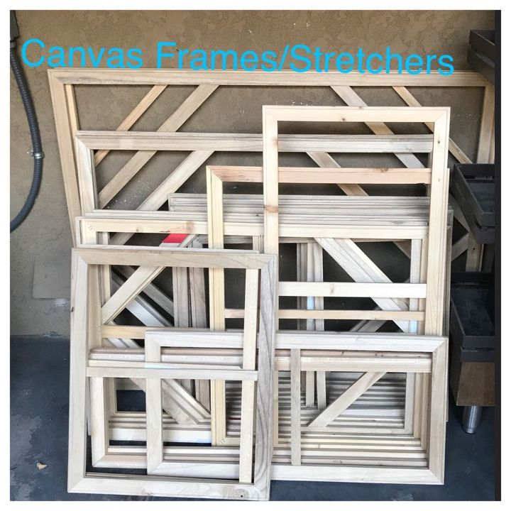 q i need some ideas for these canvas frames stretchers