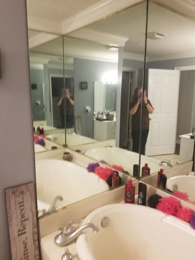 q how to remove large mirrors on a wall