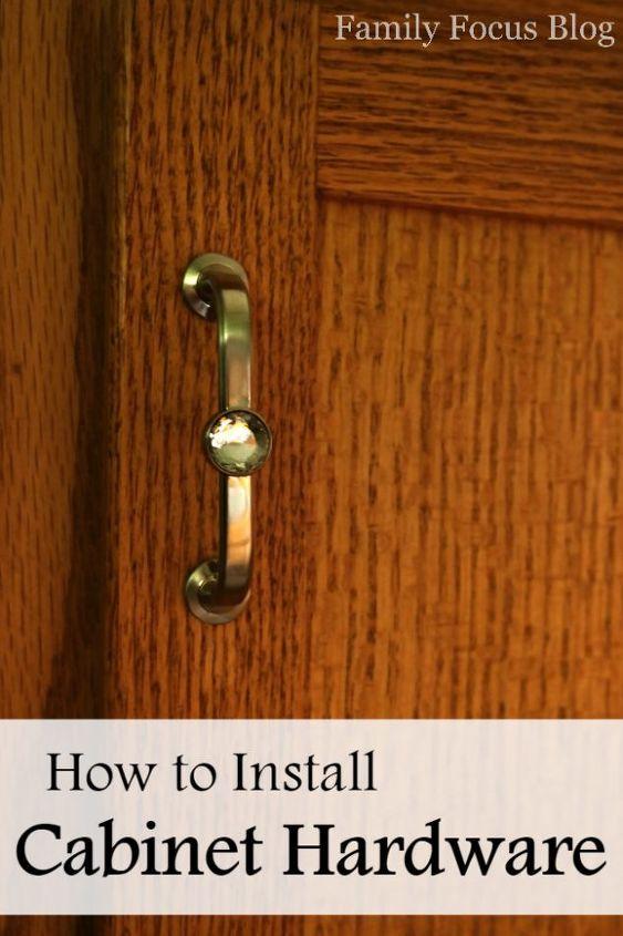how to install cabinet door hardware