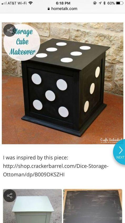 q finding wood cube