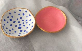 diy craft air dry clay bowls